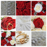 Wedding collage in red Stock Image