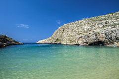 Xlendi Bay. The beautiful waters and sky at Xlendi Bay in Gozo Stock Images