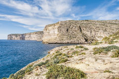 Xlendi Bay in Gozo Island, Malta. Xlendi Bay in Malta situated in the south west of the island of Gozo Royalty Free Stock Image