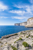 Xlendi Bay in Gozo Island, Malta. Xlendi Bay in Malta situated in the south west of the island of Gozo Royalty Free Stock Photo
