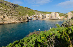Xlendi Bay - Gozo Malta. The secluded beach of Xlendi in Gozo Royalty Free Stock Photography
