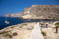 Xlendi Bay. At island Gozo, Malta Stock Photography
