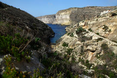 Xlendi, Gozo Стоковое Изображение