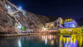Xlendi, Gozo - Beautiful cozy summer night at Xlendi Bay. The nicest mediterranean town on the island of Gozo which is Malta`s smaller island Royalty Free Stock Photos