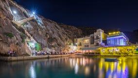 Xlendi, Gozo - Beautiful cozy summer night at Xlendi Bay Royalty Free Stock Photos