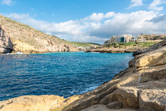 Xlendi Gozo, Malta. Clear blue seas in Xlendi Gozo, Malta Royalty Free Stock Image