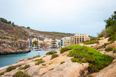 Xlendi, town at Gozo island, Malta. View over Xlendi town, Gozo island, Malta Royalty Free Stock Photos
