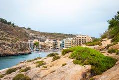 Xlendi, town at Gozo island, Malta Royalty Free Stock Photos