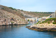 Xlendi, town at Gozo island, Malta. View over Xlendi town, Gozo island, Malta Royalty Free Stock Image