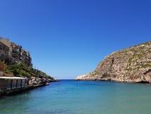 Xlendi zatoka, Gozo, Malta obrazy royalty free