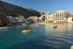 Xlendi zatoka na Gozo wyspie obrazy stock