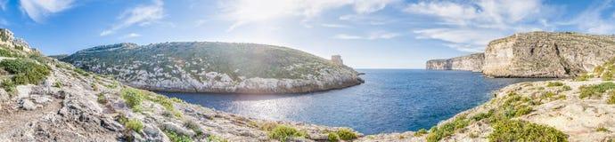 Xlendi zatoka w Gozo wyspie, Malta Fotografia Royalty Free