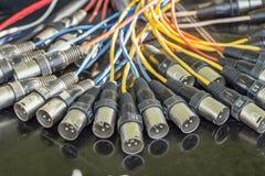 XLR被终止的缆绳 免版税库存照片