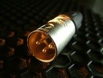 xlr диктора штепсельной вилки 2 решеток Стоковое Изображение RF