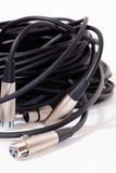 Xlr cables. Against a white background Stock Images
