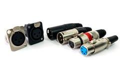 XLR connector. Stock Photo