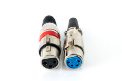 XLR connector. XLR connector isolated on white background Stock Photos