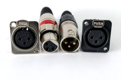 XLR connector. Royalty Free Stock Image