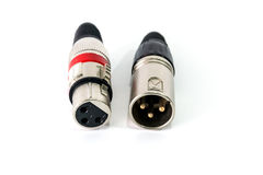 XLR connector. Stock Photography