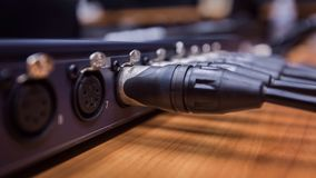 XLR-de kabel verbindt Stock Fotografie