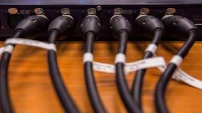XLR kabel łączy Fotografia Royalty Free