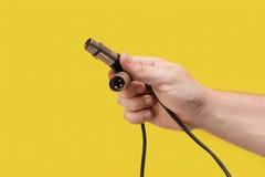 XLR kabel z samiec i kobiety prymką Zdjęcia Royalty Free