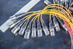 XLR Terminated Cables. 32 chanal Royalty Free Stock Photo