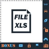 XLS File icon flat. XLS File. Perfect icon with bonus simple icons royalty free illustration