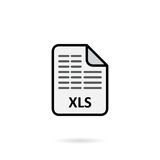 XLS file on white background Royalty Free Stock Image