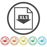 The XLS icon, File format symbol set. Vector icon vector illustration