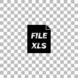 XLS icon flat vector illustration