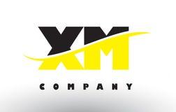 XM X M Black et logo jaune de lettre avec le bruissement Illustration de Vecteur