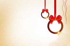 Xman ring with ribbon right side, abstrack background Stock Photos