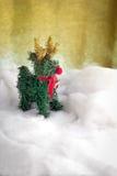 Xmas在雪的圣诞节装饰 JPG 免版税库存照片