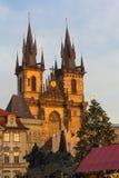 Xmas布拉格镇中心12月2015年,老,捷克 免版税图库摄影