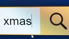 Xmas文字处理查寻箱子特写镜头显示器 股票录像