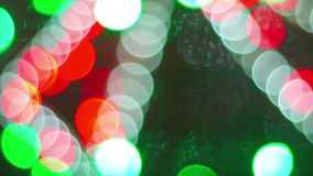 Xmas树和诗歌选抽象被弄脏的圣诞灯Bokeh背景  寒假概念 影视素材