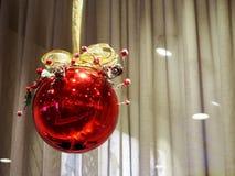 Xmas红色球 库存照片