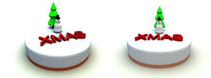 Xmas蛋糕2 库存图片
