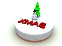Xmas蛋糕5 库存照片