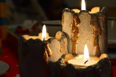 Xmas蜡烛 库存图片