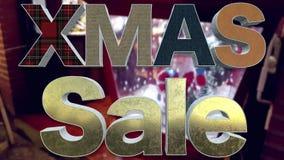 XMAS销售背景圈 股票视频