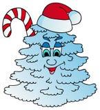 Xmas雪结构树 库存图片