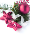 xmas белизны украшения пурпуровый Стоковая Фотография