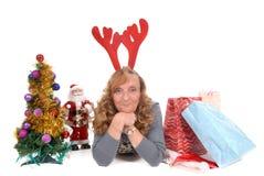 xmas женщины рождества стоковые изображения rf