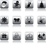 xmas иконы s кнопки Стоковая Фотография RF
