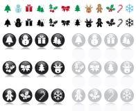 xmas иконы s Стоковые Изображения