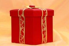 xmas красного цвета коробки присутствующий Стоковое фото RF