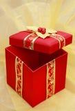 xmas красного цвета коробки присутствующий Стоковые Фотографии RF
