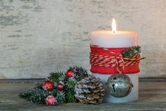 xmas подарка украшения рождества свечки предпосылки золотистый Стоковая Фотография RF
